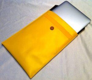 MacBook Air inside office envelope