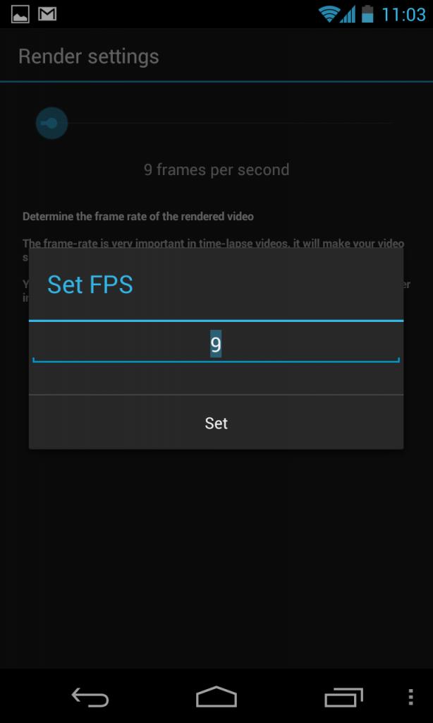 Set Frames Per Second