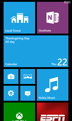 The current iteration of Windows Phone.
