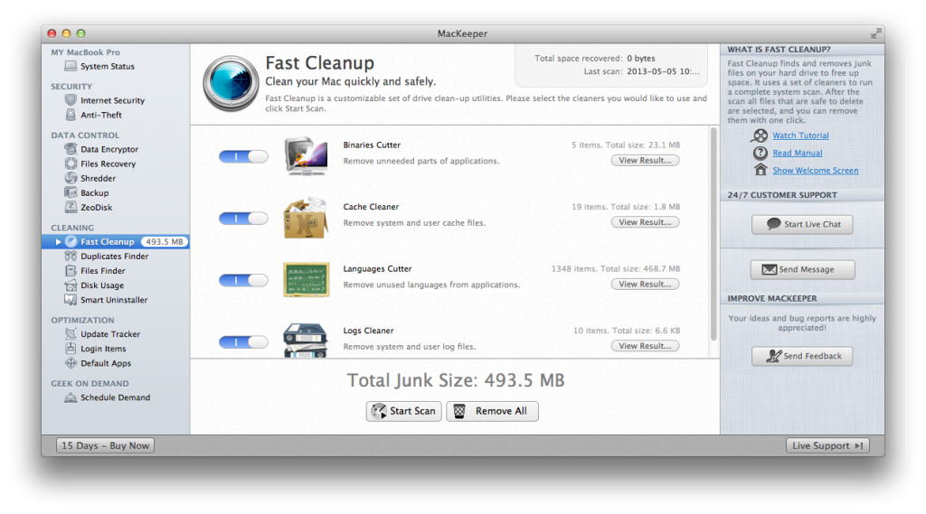 Fast Cleanup: Finding quite a bit for a clean install.